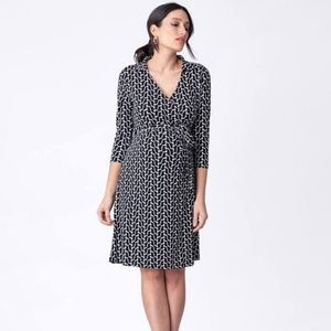 Seraphine Geo Print Maternity Wrap Dress